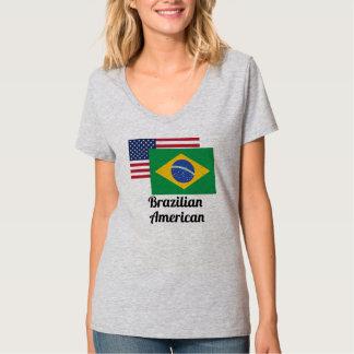 American And Brazilian Flag Shirts