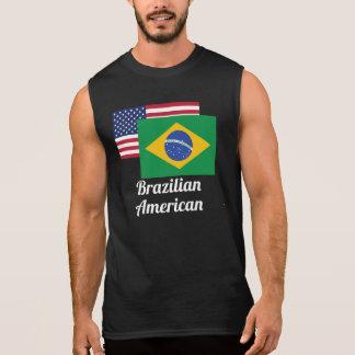 American And Brazilian Flag Sleeveless Tee