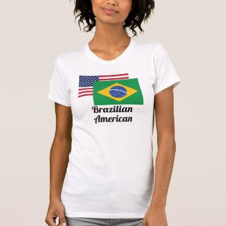 American And Brazilian Flag T Shirts