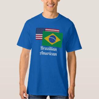 American And Brazilian Flag T-shirts