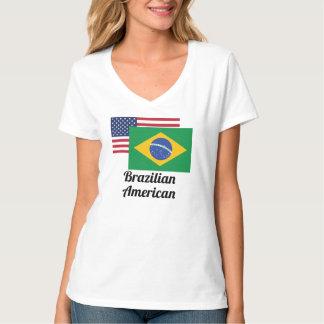 American And Brazilian Flag Tee Shirt