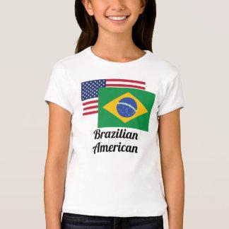 American And Brazilian Flag Tee Shirts