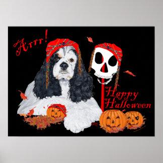 American Cocker Spaniel Pirate Poster