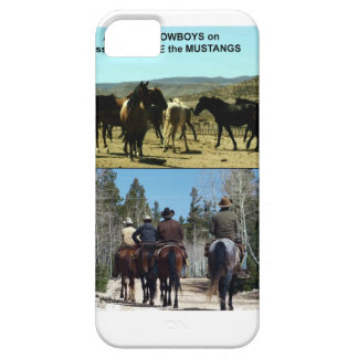 American Cowboys on trip to TAME Mustang Horses iPhone 5 Case