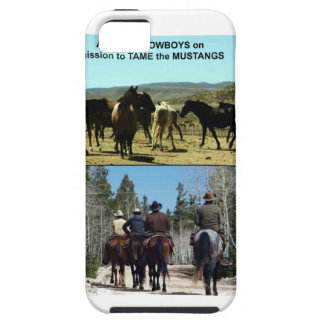 American Cowboys on trip to TAME Mustang Horses iPhone 5 Cases