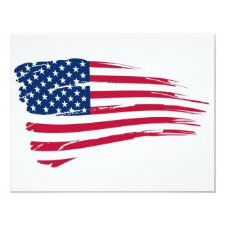 American Flag 11 Cm X 14 Cm Invitation Card