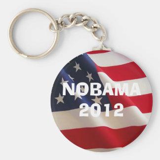 american-flag-2a, NOBAMA 2012, NOBAMA 2012 Basic Round Button Key Ring