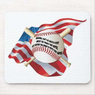 American Flag Baseball Mouse Pad