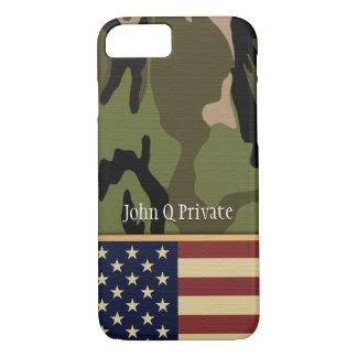 American Flag Camo Name template iPhone 7 Case