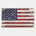 American Flag Rectangular Sticker