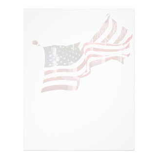 American Flag with Crosses 21.5 Cm X 28 Cm Flyer