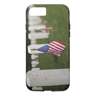American flags on tombs of American Veterans on iPhone 7 Case