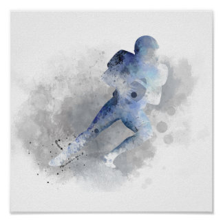 AMERICAN FOOTBALL PLAYER 1 - Poster
