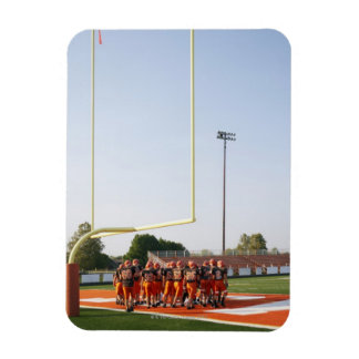 American football players, including teenagers rectangular photo magnet