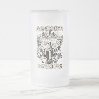 American Patriots Frosted Glass Mug