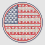 American Pirate Flag Round Sticker