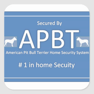 American Pit Bull Terrier Home Security Sticker
