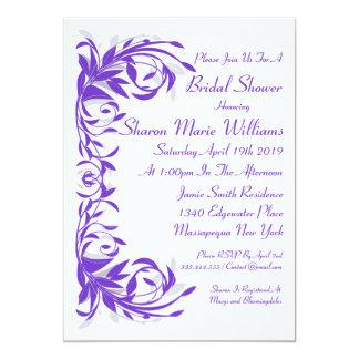 Amethyst Flourish Bridal Shower Invitation