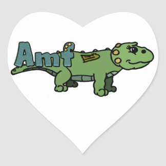 Amf (with name) heart sticker