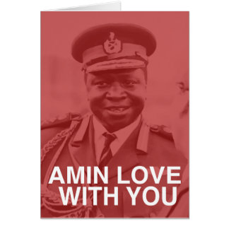 amin love with you greeting card