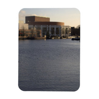 Amstel River and Amsterdam Music Hall Rectangular Photo Magnet