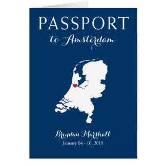 Amsterdam Netherlands Birthday Passport Note Card