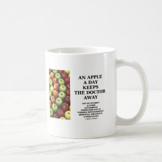 An Apple A Day Keeps The Doctor Away (Food Advice) Basic White Mug