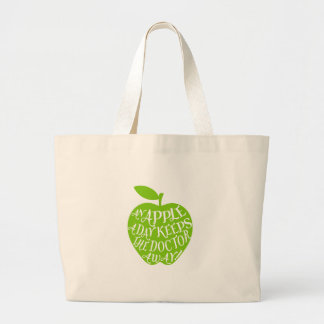 An apple a day keeps the doctor away jumbo tote bag