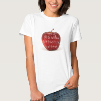 An apple a day keeps the doctor away... tee shirt