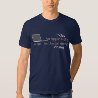 An Apple Today Keeps The Viruses Away - Colored Tee Shirt