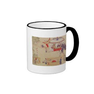 An archery contest, late 18th century ringer mug