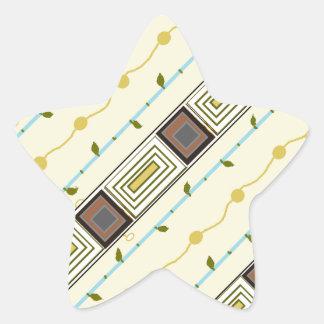 An elegant ,beautiful design star sticker