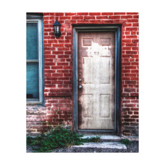 An Old Door Stretched Canvas Prints