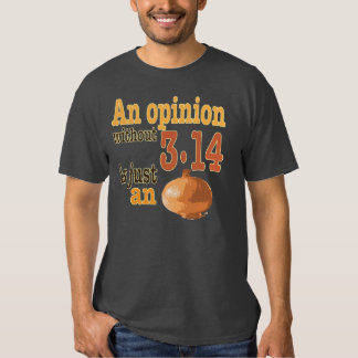 An opinion without 3.14 is just an onion t shirts