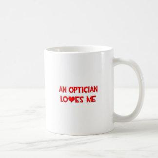 An Optician Loves Me Basic White Mug