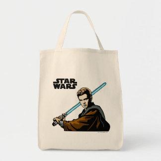 Anakin Skywalker Lightsabre Grocery Tote Bag