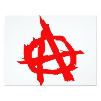 Anarchy 11 Cm X 14 Cm Invitation Card