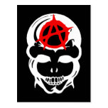 Anarchy Skull Postcard