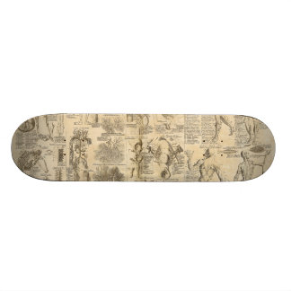 Anatomical Chart from Cyclopaedia 1728 18.1 Cm Old School Skateboard Deck