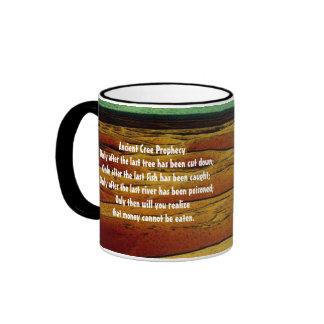 Ancient Cree Prophecy Ringer Mug