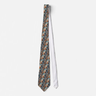 Ancient Medieval Astrological Clock Czech Tie