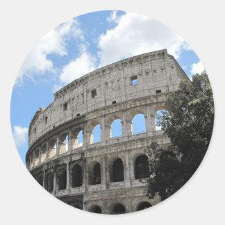 Ancient Rome Colosseum Round Sticker