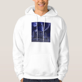 ancient stone landscape hooded pullover