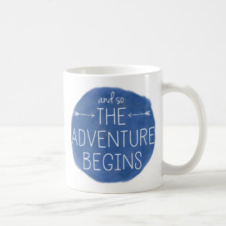And So The Adventure Begins Basic White Mug