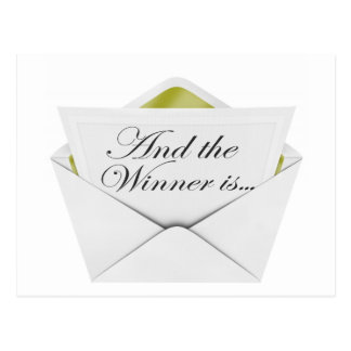 And the winner is envelope postcard
