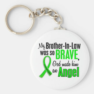 Angel 1 Non-Hodgkins Lymphoma Brother-In-Law Basic Round Button Key Ring
