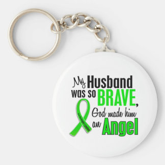 Angel 1 Non-Hodgkin's Lymphoma Husband Basic Round Button Key Ring