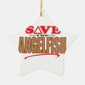 Angelfish Save Ceramic Star Decoration