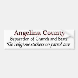 Angelina County Protest Bumper Sticker