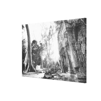 Angkor Cambodia, Details Ta Prohm Stretched Canvas Print
